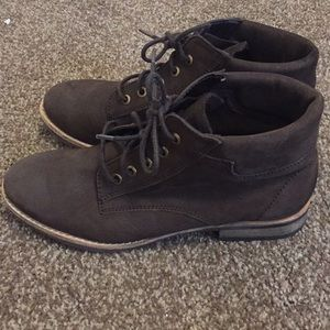 DIBA soft brown leather bootie size 7